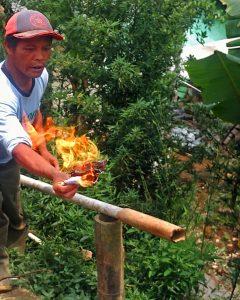 Potensi Gas Alam di Desa Pegundungan